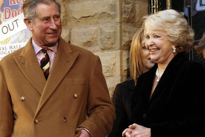 Lilian with HRH The Prince of Wales at the official opening of the restored Royal Hall in 2008