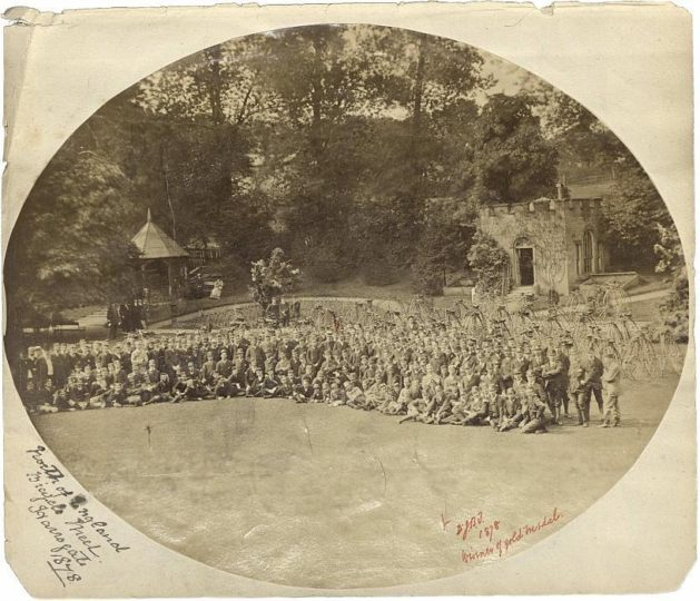 The first ever gathering of the Bicycle Touring Club, in Harrogate 1878