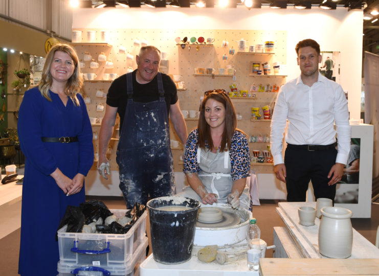 Gemma Rio, Head of Destination Management with celebrity potter Keith Brymer Jones and Clarion Events