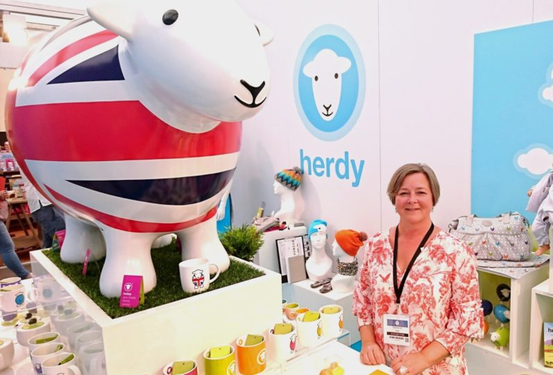 The Herdy stand at the Home and Gift 2017 show in Harrogate.