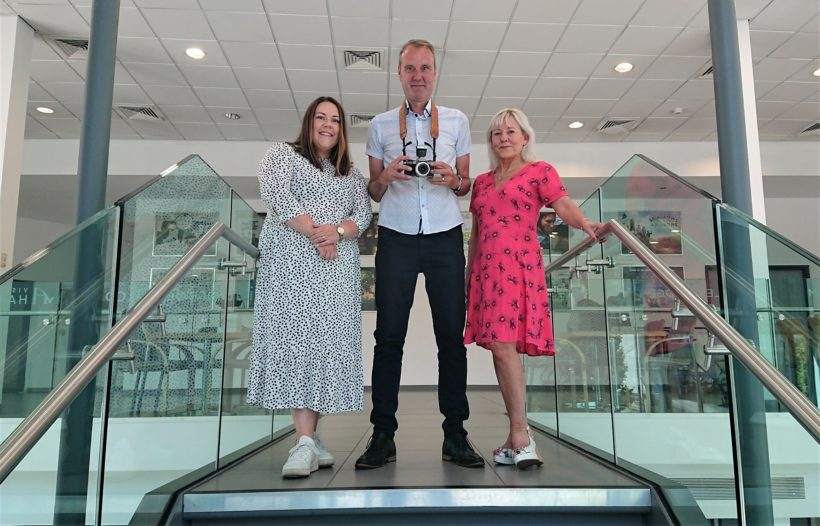 Photo North Festival organisers Georgia Pick, Peter Dench and Sharon Price